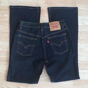 Levi's 517 Slim Stretch Bootcut Dark Wash Vintage